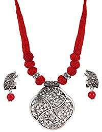 f88889f049 Tandra's Fashion Oxidised Or German Silver Classy Necklace Set for Women  and Girls