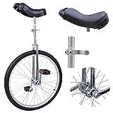 Yulie Monocycle 24 Pouces Ajustable pour Enfants Jeunes Charge Max 70Kg vélo Montagne Pneu Équilibre Cyclisme