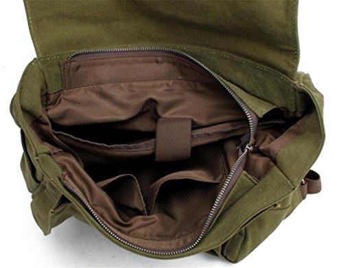 SHFANG Doppelter Schulterrucksack Segeltuch-beweglicher Retro- Spielraum Männer und Frauen wenden vier Farben 35 * 35 * 45cm 0.8KG an , deep grey green