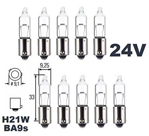 24 Volt – 10 Stück – H 21W – BAY9s – 21Watt – Nfz LKW… | 04048949074160