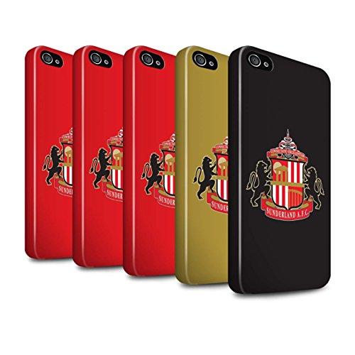 Offiziell Sunderland AFC Hülle / Glanz Harten Stoßfest Case für Apple iPhone 4/4S / Gold Muster / SAFC Fußball Crest Kollektion Pack 6pcs
