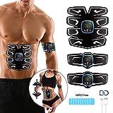 Electrostimulateur Musculaire EMS Ceinture Abdominale ABS Stimulateur Musculaire Trainer Écran LCD & USB pour Smart Paresseux Muscles Fitness Equipment