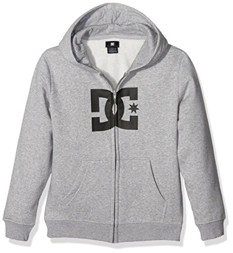 DC Shoes Star felpa ragazzo, Ragazzo, Star Zh Boy, Grigio - Heather Grey, FR : 14 ans (Taille Fabricant : 14/L)