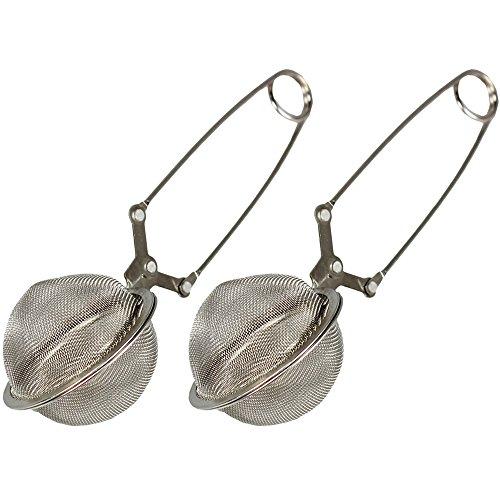 COM-FOUR® Tee Ei Sieb Teeei Teezange Teesieb für Teeliebhaber (Ø 4,5 - 2 Stück)