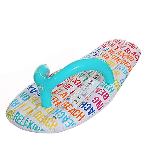 FXQIN Aufblasbares Pool-Floss-Floß - Pantoffel-Sich hin- und herbewegende Reihe, erwachsenes Schwimmring-Sich hin- und herbewegendes Bett-Wasser-Spielzeug für Kindererwachsene Seepartei -