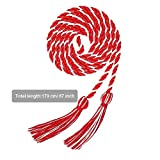Welltobuy Graduation Honor Cord Two-Color Braided Grad Days Graduation Bachelor Clothing Tassel Honor Rope Graduation Party Costume Accessories