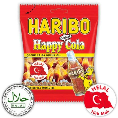 Haribo Happy Cola, Helal / Halal, Gummibärchen, Weingummi, Fruchtgummi, 100g