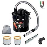 CENERIX è un aspiracenere elettrico compatto adatto ad aspirare ceneri fredde di caminetti, stufe e barbecue. Pratico e maneggevole grazie al suo bidone da 18 L • Motore 230 V~50 Hz - 1200 W - Depressione : 17 Kpa. • Bidone 18 litri in metall...