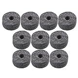 BQLZR Weichfilzscheiben für Beckenständer/Schlagzeuge, als Ersatz, Durchmesser: 3,5 cm, Farbe: schwarz, Stärke: 1,5 cm, Anzahl: 10 Stück