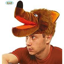 Disfrazzes - Sombrero o gorro de lobo marrón