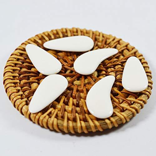 Heaviesk Pure Natural Durable Hochwertiger Nagel Natural Nails Zither Für Anfänger Zum Üben von Fingerpicks Zither Zubehör