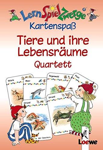LernSpielZwerge, Kartenspaß Tiere und ihre Lebensräume, Quartett (Kartenspiel)