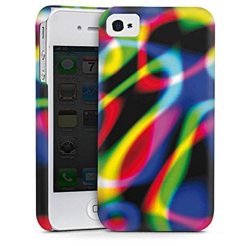 Apple iPhone 4 Housse Étui Silicone Coque Protection Laser Lumière couleurs Cas Premium mat
