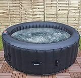 Airwave Inflatable Hot Tub 4 Person Portable Spa Aruba, Black