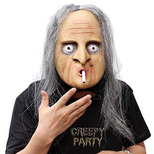 euheit-Halloween-Kostüm-Party-Latex-menschliche Hauptmaske Masken Die hexe (Lustige Alte Frau Kostüm)