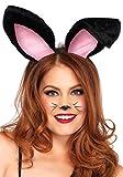 Leg Avenue A2811 - Plush Bunny Ears , Einheitsgröße (Schwarz)