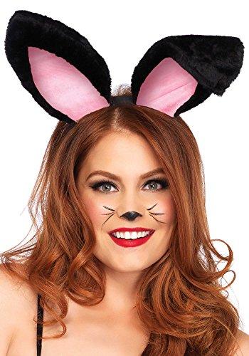 Kostüm Bunny Alle Black - Leg Avenue Plüsch Bunny Ohren, schwarz
