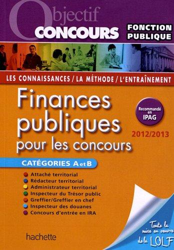 Finances Publiques Cat A et B 2012-2013