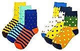 #9: Winza Men's Mid-calf Length Cotton Socks (Multi-Coloured, Set of 6)