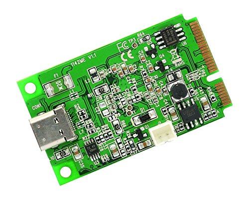 IO Crest Mini PCI-Express 2.0 to USB 3.1 Type-C Gen 2 Card Chipset - Green