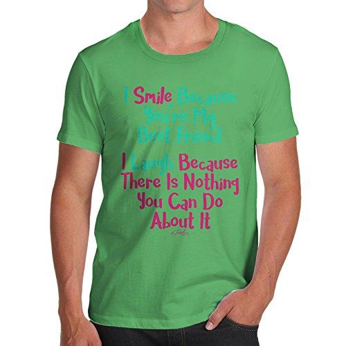 TWISTED ENVY Herren T-Shirt You're My Best Friend Print Grün