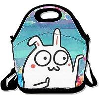 Preisvergleich für Lunch Tote Hip Hop BUNNY Lunch-Boxen Lunchpaket Handtasche Lebensmittel Aufbewahrung passend für Schule Reisen Arbeit Outdoor
