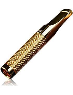CaLeQi: boquilla filtrante para el humo del tabaco 24K dorada y plateada, reutilizable, para filtrar el alquitrán...