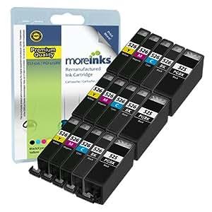 15 Compatible Printer Ink Cartridges for Canon Pixma IX6550 - Multipack