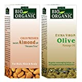 #6: Indus Valley 100% Organic Combo Pack of Almond Oil & Olive Oil