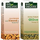 Indus Valley Organic Combo Pack Of Almond Oil & Olive Oil(100ml x 2)