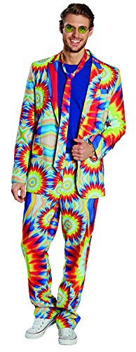 Hippie Kostüm Batik - Hippie Anzug Herren Kostüm Suit Hippy Batik Karneval