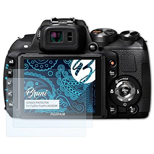 Bruni Schutzfolie für Fujifilm FinePix HS25EXR Folie, glasklare Displayschutzfolie (2X)
