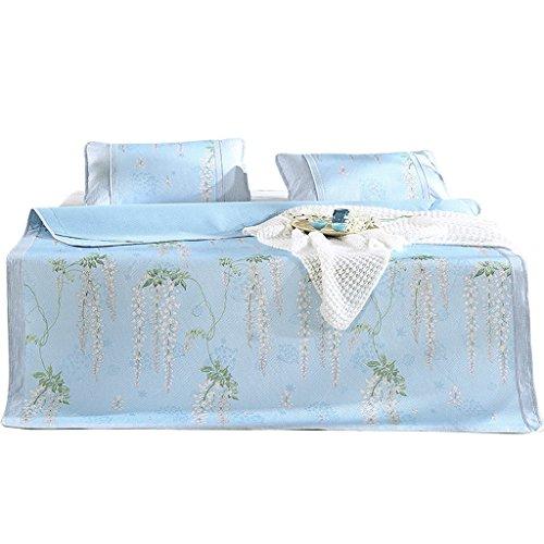 Kühlende Sommer-Schlafenmatten-Matratze Faltbare Klimaanlage weiche Auflage Jacquard-EIS-Seide DREI Stück (größe : 1.8m (6 ft) Bed) -