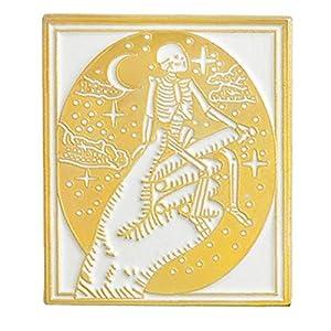 Culer Dunkle Emaille Pin Satan Satanismus Metall Punk Hexe Böse Pins Halloween Skeleton Gothic Puck Brosche Schmuck Abzeichen
