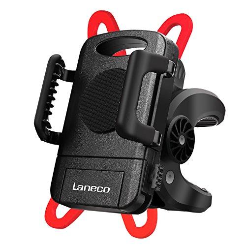 Handyhalter Fahrrad Laneco Fahrradhalterung, Verstellbar Handyhalterung Fahrrad Motorrad Halter, Anti-Shake Handy Halterung Halter Fahrrad Handyhalterung, 360-Grad-Drehung für Universal Phone, GPS