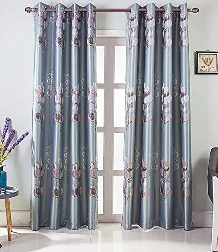 LZFFHTD Wohnzimmer Vorhang Schattierung Druck Isolierung super weichen Vorhang 140cmx230cm (Breite x Höhe) 2 Panel Blau - Panel-grüne Vorhänge Zwei
