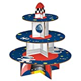 Home Inside Out Rocket Cake Stand, 3 Tier, Cardboard