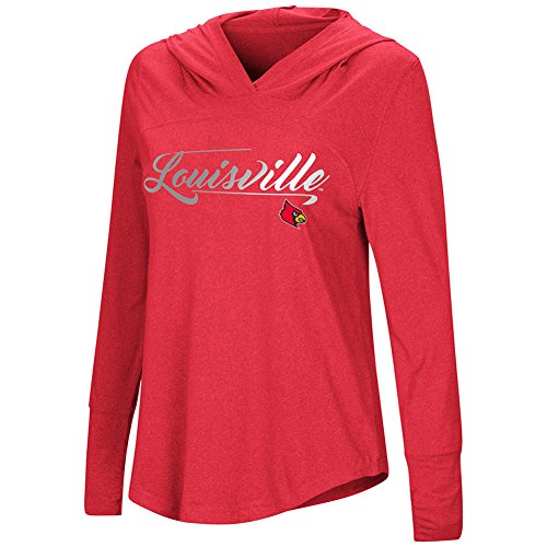 Colosseum Damen Ich Stick Long Sleeve Hoody, Viele Colleges erhältlich, Damen, University of Louisville Cardinals, X-Large Louisville University