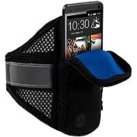 kwmobile Brazalete deportivo para hacer footing para Smartphones con cremallera y un práctico cierre de velcro en negro