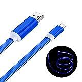 Micro USB Kabel, Geabon 1m Sichtbare LED Fließenden...