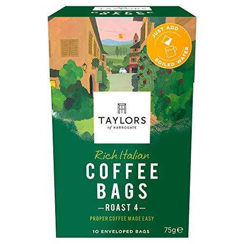 Taylors of Harrogate Rich Italian Coffee Bags, 10 enveloped bags (Pack of 3, total 30 Coffeebags)