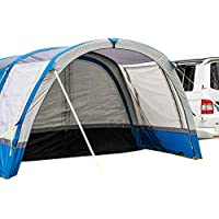 OLPRO Outdoor Leisure Products Cocoon Extension 3.5m x 1.8m Inflatable Drive Away Campervan Awning Porch Extension for Cocoon Breeze Blue & Grey 6