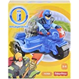 Fisher Price Toy - Imaginext City Police Figure with Motorcycle and Dog Playset by Imaginext
