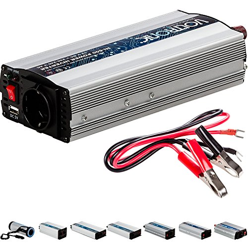 VOLTRONIC MODIFIZIERTER SINUS PKW Spannungswandler Inverter Wechselrichter 12V auf 230V 600W USB Stromwandler Auto (Modell 2018) 3 Jahre Garantie