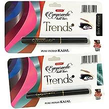 COMBO - K-Veda Eyeyurvedic Kohl Liner Trendz Black Shimmer + Calm Aqua, Pure Indian Kajal
