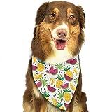 Gxdchfj Banana,Palm Leaves,Watermelon and Pineapple Pattern Fashion Dog Bandanas Pet Dog Cat Neckerchief Dog Scarf...
