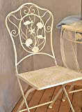 Vintage silla de jardín Metal Marino Spa Terraza Jardín Silla Muebles de Jardín Antiguo Color Blanco