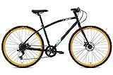 FabricBike pendolare, ibrida strada bicicletta da strada, SRAM 8 velocità, Tektro freni a disco meccanici (Matte Black & Orange, L-50cm)