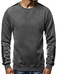 087718c43a5e OZONEE Herren Sport Fitness Training Crewneck Täglichen Modern Sweatshirt  Langarmshirt Pullover Warm Basic J. Style