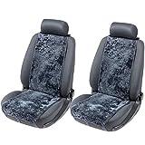 SONRU Sitzauflagen Auto, Lammfell Autositzauflage für alle PKW Sitze, Schonbezug Sitzaufleger 12-14 mm Fellhöhe